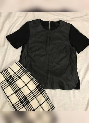 Блуза / футболка з екошкіри