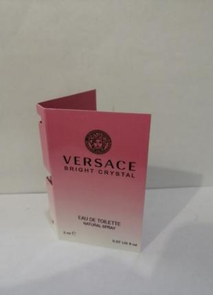 Versace bright crystal, женская туалетная вода 2мл,пробник