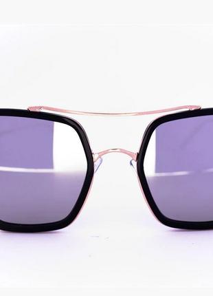 Женские квадратные солнцезащитные очки оверсайз зеркальные цвет линз: зеркальный серый