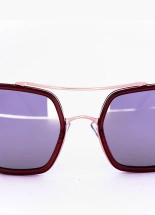 Солнцезащитные очки оверсайз зеркальные коричневые цвет линз: зеркальный серый