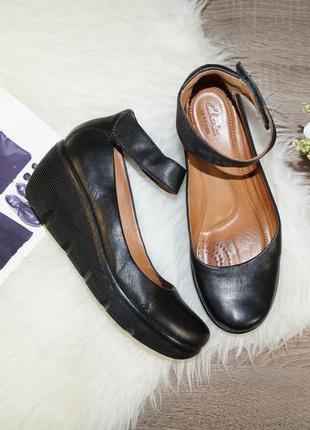 (39р./25,5см) clarks! кожа! красивые туфли в классическом стиле