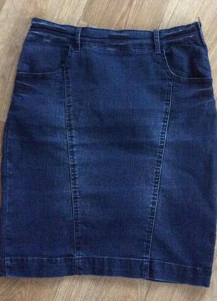 Джинсовая юбка с эластином