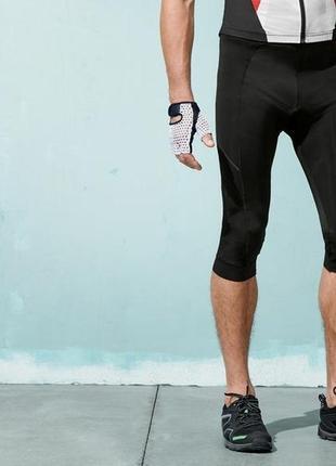 Велокапри crivit,лосины укороченные с памперсом, спортивная одежда