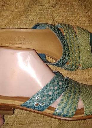 41р-27 см кожа на широкую с подьемом шлепанцы vabene swess made