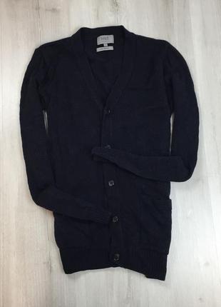 F7 кардиган темно-синий шерстяной m&s маркс спенсер свитер джемпер