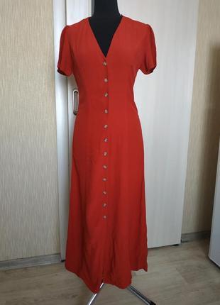 Платье длинное new look,сарафан в пол р.s/m /вискоза
