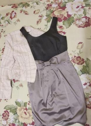 Атласное ,шелковое платье