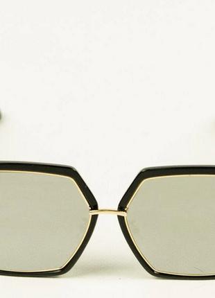 Солнцезащитные квадратные очки зеркальные