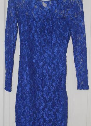 Синее платье sassofono