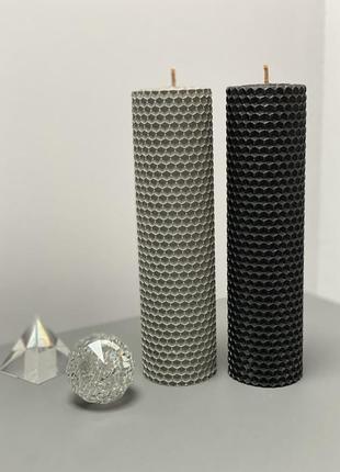 """Набор свечей """" black & grey"""" ручной работы"""