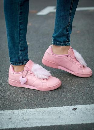 X local heroes npc ii pink розовые кроссовки с мехом с пушком