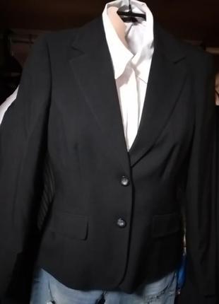 Пиджак жакет черный на две пуговицы р38 dorothy perkins