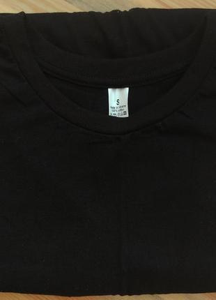 Новая черная чёрная базовая футболка новые черные чёрные футболки