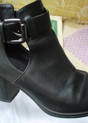 Ботинки с ремешками осень весна челси туфли ботильоны полусапожки р. 37 осеннее весеннее