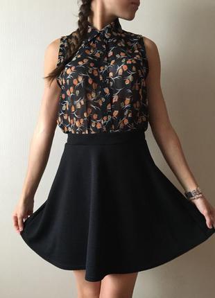 Трендовая cупер фактурная юбка клеш солнце