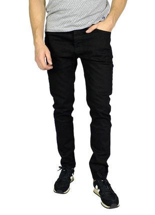 Черные  зауженные прямые джинсы armani