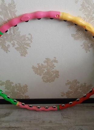 Обруч массажный хула хуп с шариками антицеллюлитный разборной для похудения круг