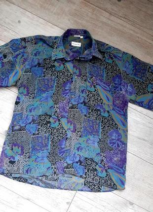 Рубашка christian dior 100% шелк