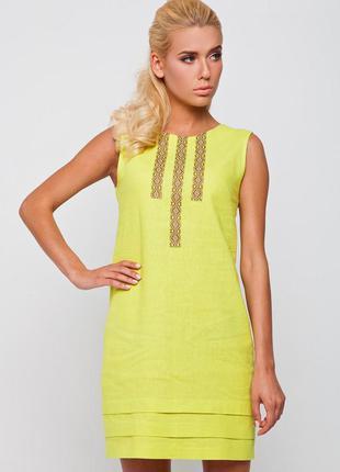 Красивое яркое платье лен от nenka