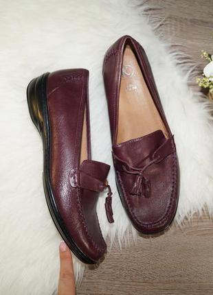 (41р./26,5см) clarks! кожа! красивые туфли в классическом стиле, лоферы