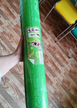 Йогамат. мат коврик для йоги. гимнастические коврики фитнес чехол в подарок
