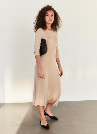 Новое трикотажное платье reserved l