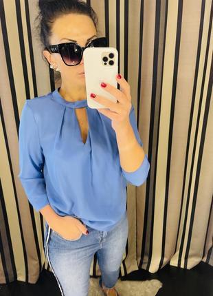Брендова блуза we розмір м  красивого голубого кольору ціна 190 грн