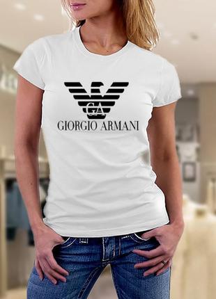 Женская футболка armani (армани)