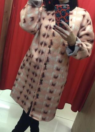 Пальто шерстяне oversize