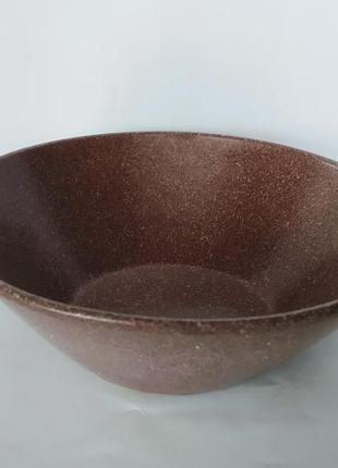Миска 0,7 из красной глины в глазури гранит