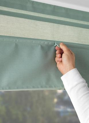 Римські штори, зелений, 80x160 см