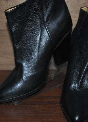 Шикарные ботильоны женские на каблуке из натуральной кожи h&m