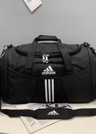 Шикарная спортивная дорожная сумка adidas с отделом для обуви наложенный платёж