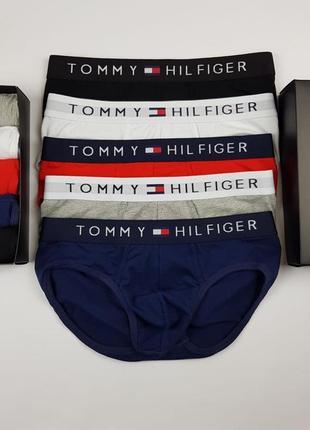 Подарочный набор брифов tommy hilfiger - 5 шт в коробке