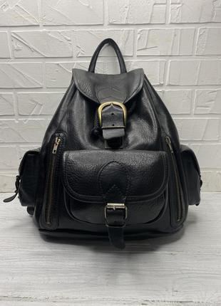 Кожаный рюкзак винтажный