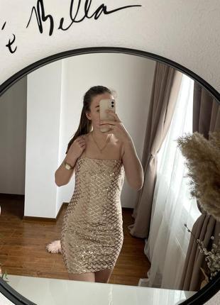 Платье, нарядное платье, платье с блестками