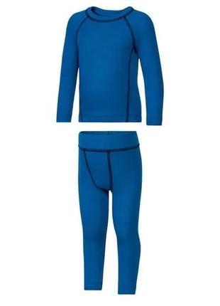 Термо комплект (реглан/штаны) lupilu синие 86/92 98/104