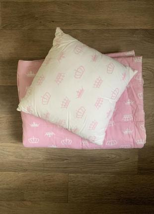 Набор детское одеяло подушка в чехле