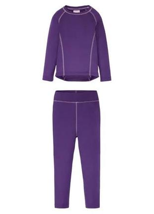 Термо комплект (реглан/штаны) lupilu фиолет 98/104 и 110/116 фиолет