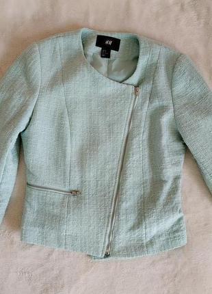 Пиджак бирюзовый на 12 - 14 лет