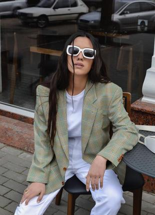 Трендовый винтажный оверсайз пиджак/жакет от teller.