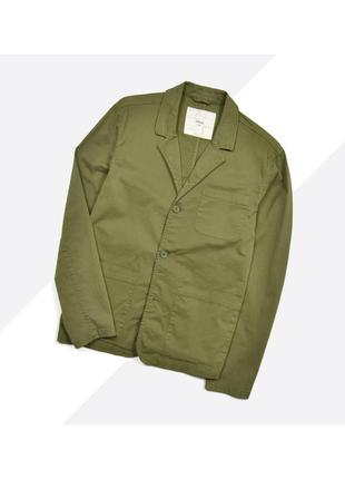 Minimum l / хлопковый жакет в стиле military/workwear хаки оливковый garment dyed