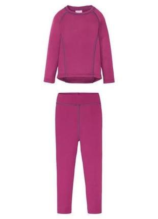 Термо комплект (реглан/штаны) lupilu розовый 98/104 и 110/116