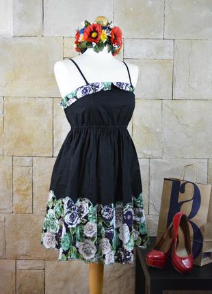 Акция 1+1=3! -котоновое платье с цветами от enoy me paris -