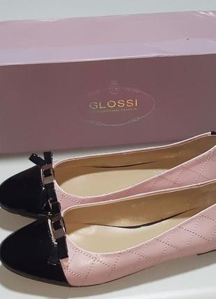 Балетки в стиле шанель glossi, размер 36-37, на ногу 23-23,5 см