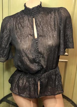Скидка 🔥блуза , блузка , кофта  на резинке , нарядная , вечерняя