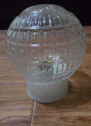 Стеклянный плафон светильник новый
