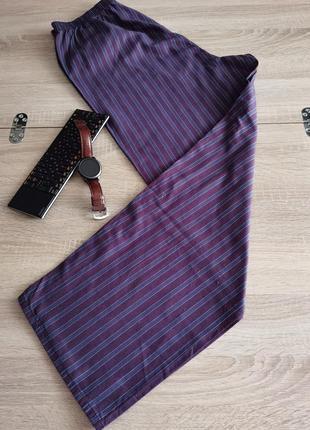 Домашние мужские тканевые натуральные штаны размера m