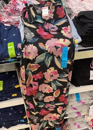 Пижамные штаны, штанишки для дома, принт цветы