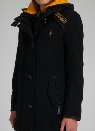Пальто  superdry premier pea trench coat